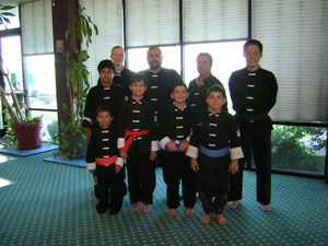 Wang's Martial Arts rank test picture