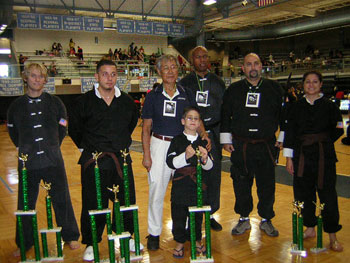 Wang's Martial Arts student in tournament picture
